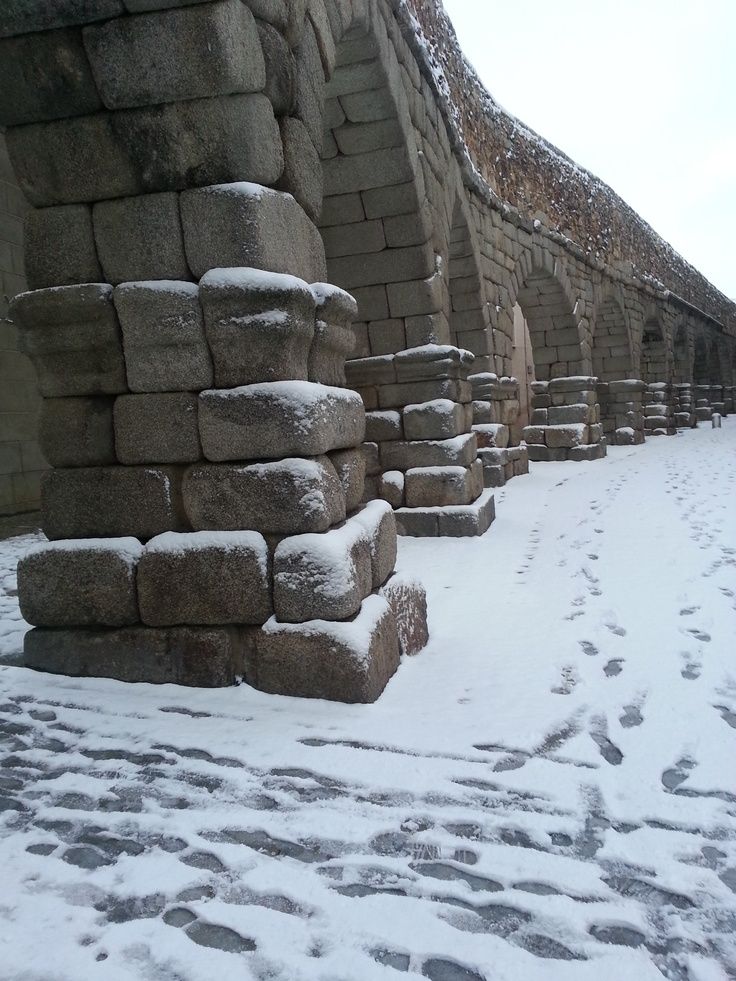 Nevada del día 11 de febrero de 2013 en Segovia. El Acueducto.