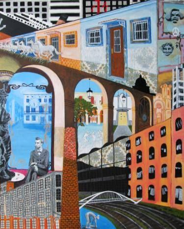 "Saatchi Art Artist Karlijn Surminski; Collage, ""Sant Andreu"" #art"