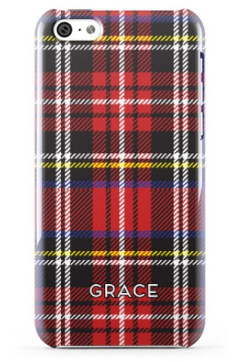 Minnie & Emma Tartan Plaid Monogrammed Phone Case minnieandemma.com