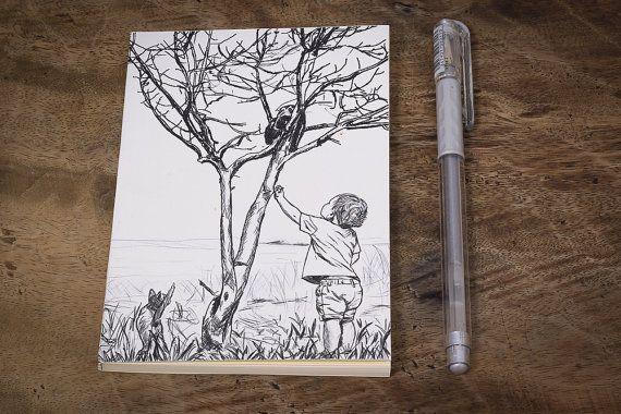 Handmade journalUnlined Journal Handmade by MeiraDesign on Etsy
