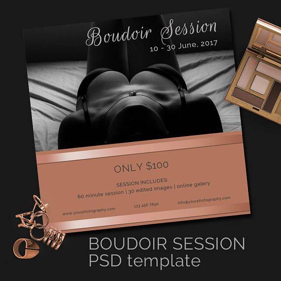 Photography Boudoir Mini Session / Photography template / Blog