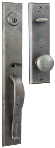 Weslock Rockford Handleset - for the tackroom door with the Carlow lever option for the inside - perfect rustic hardware