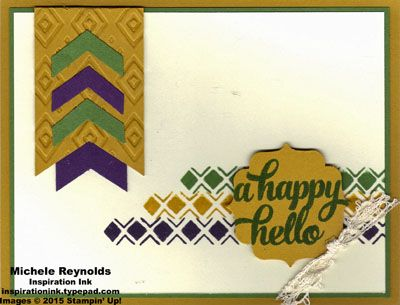 2015  Bohemian Borders Photopolymer Stamp Set and Tin of Cards Photopolymer Stamp Set