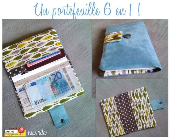 Tuto Portefeuille 6 en | http://my-travelling-collections.blogspot.com