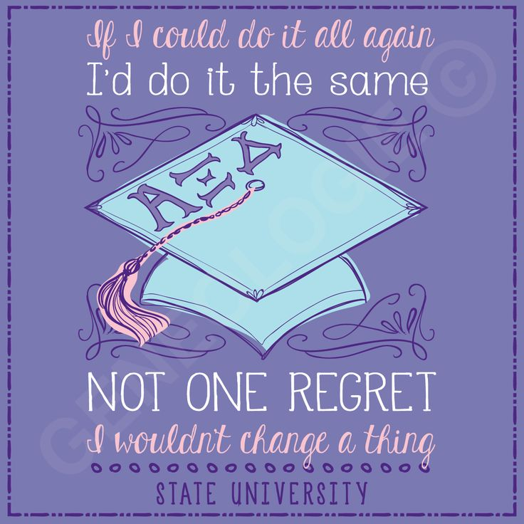 If I could do it all again, I'd do it the same. Not one regret, I wouldn't…