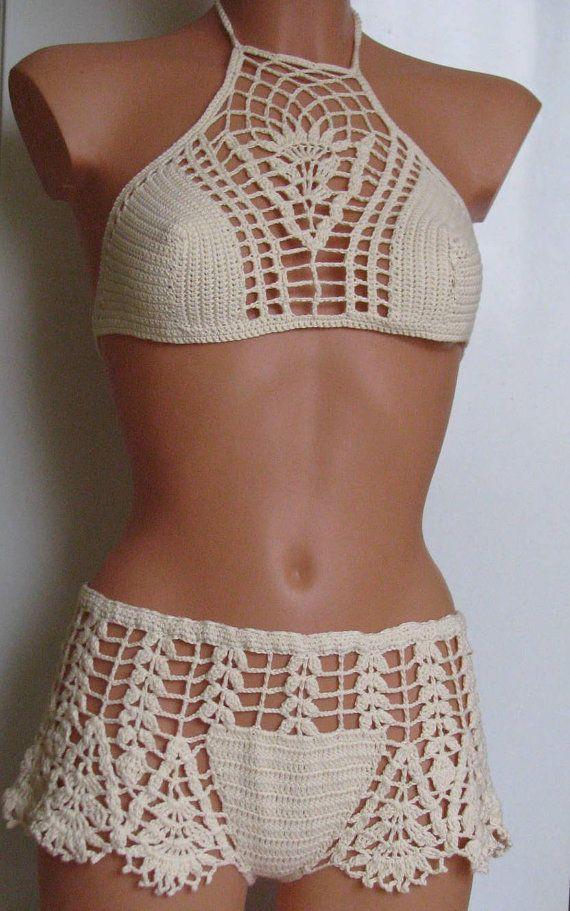 Original crochet Bikini Women Swimwear Beach Wear by Spillija Mais