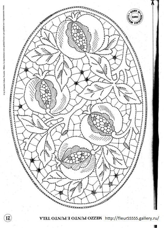"""Pomegranate design - Diseño Granadas - Click on """"previous"""" and """"next"""" arrows top right for other designs- Haz clic en flechas  """"previo"""" y """"próximo"""" en derecha superior para otros diseños"""