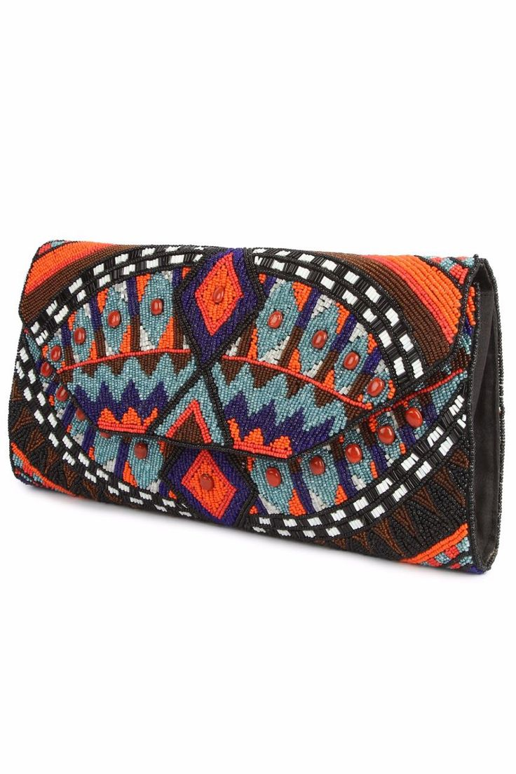 MyBatua | Alyssa Multi Colour Clutch Bag | Worldwide Shipping