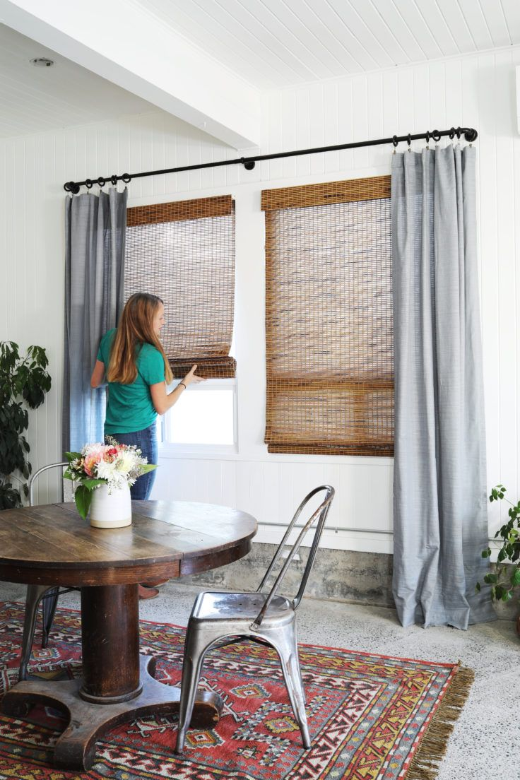Tacoma Converted Garage // Window Treatments with Lowe's + Our ...