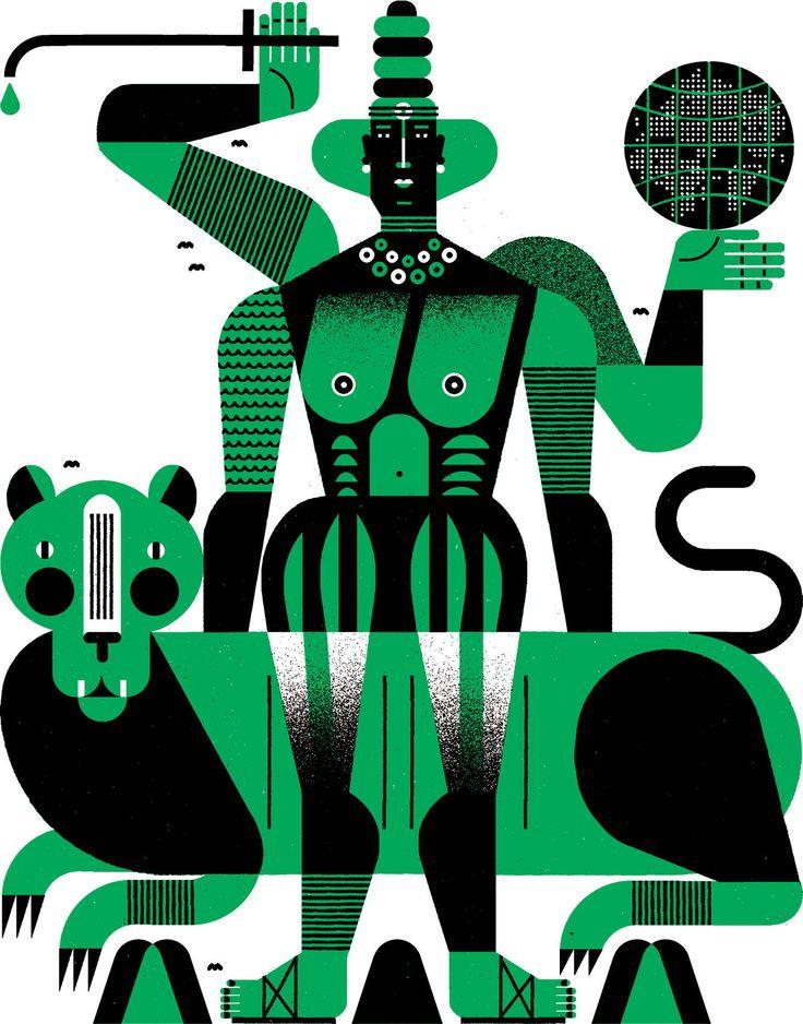 """SHE of the MOUNTAINS"" - Raymond Biesinger Illustration Inc."