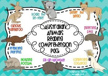 I used Australian animals when designing this resource pack as in the past I have used reading comprehension strategies that have native animals from other countries. Being from Australia and teaching in an Australian school I wanted to expose my students to our Australian culture where ever possible.
