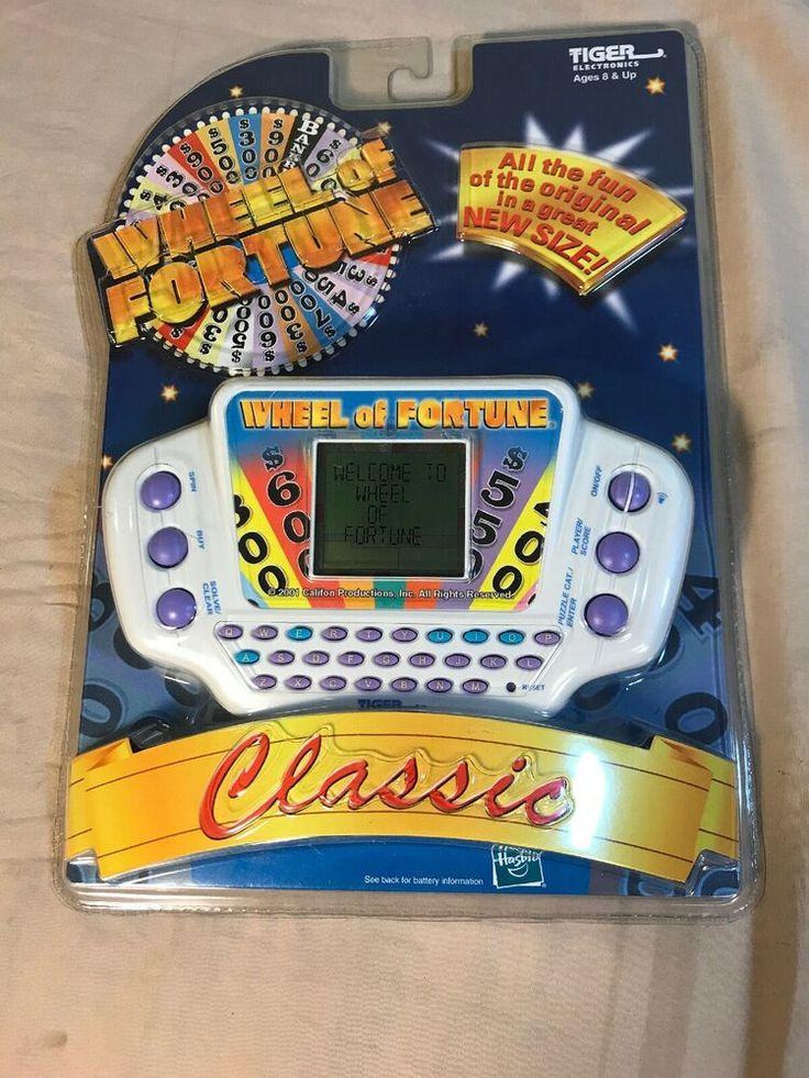 Vintage 1996 wheel of fortune tiger electronics handheld