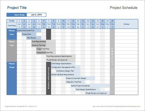 Download this project schedule template to create a simple timeline for your project using Excel.