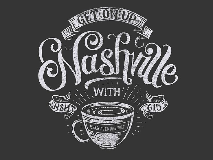 I had the opportunity to design the t-shirt for my local Creative Mornings Nashville. I'm super excited to help support the great things the Creative Mornings group does for the arts and Nashville ...