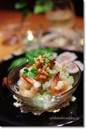 白菜とくるみのエスニック春雨サラダ|レシピブログ
