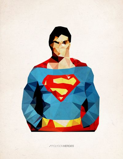 Polygon Heroes - Superman  by TheBlackeningCo.