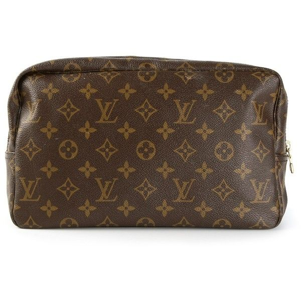 LOUIS VUITTON VINTAGE monogram make up bag found on Polyvore