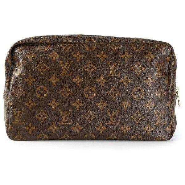LOUIS VUITTON VINTAGE monogram make up bag found on Polyvore