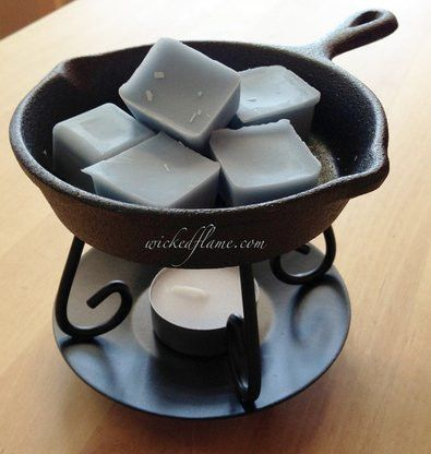 This very well should be your last tart warmer, ever! Not only are cast iron skillets great for cooking, they're known to last a lifetime. Our adorable iron skillet is perfect for our soy wax melts or