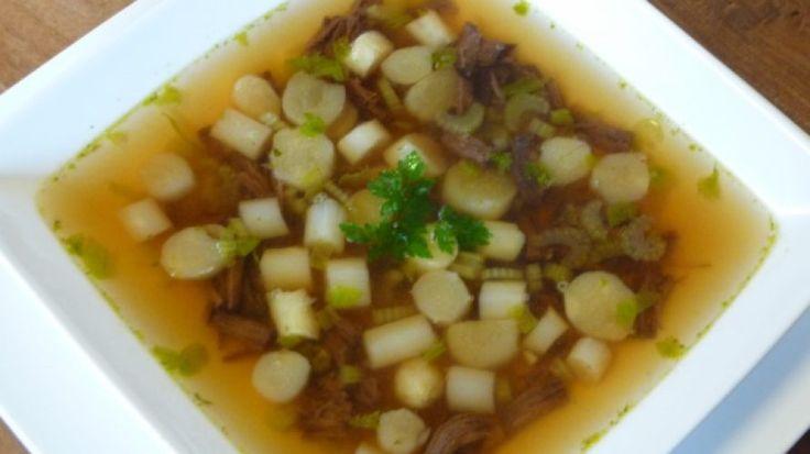 Zondagse soep met asperges