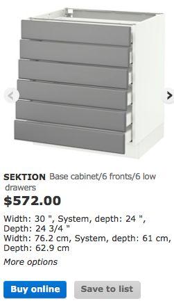 ikea base cabinet