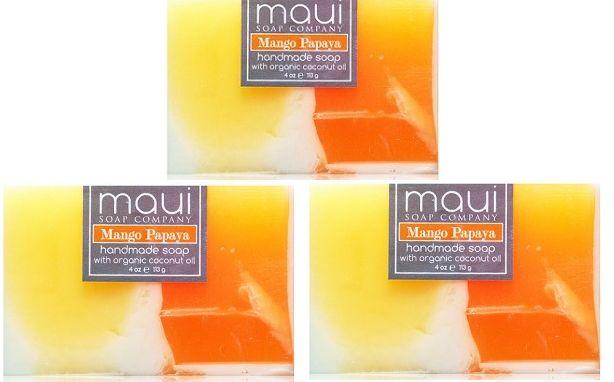 Maui Soap Company-Mango Papaya Hawaiian Soap 3-Pack
