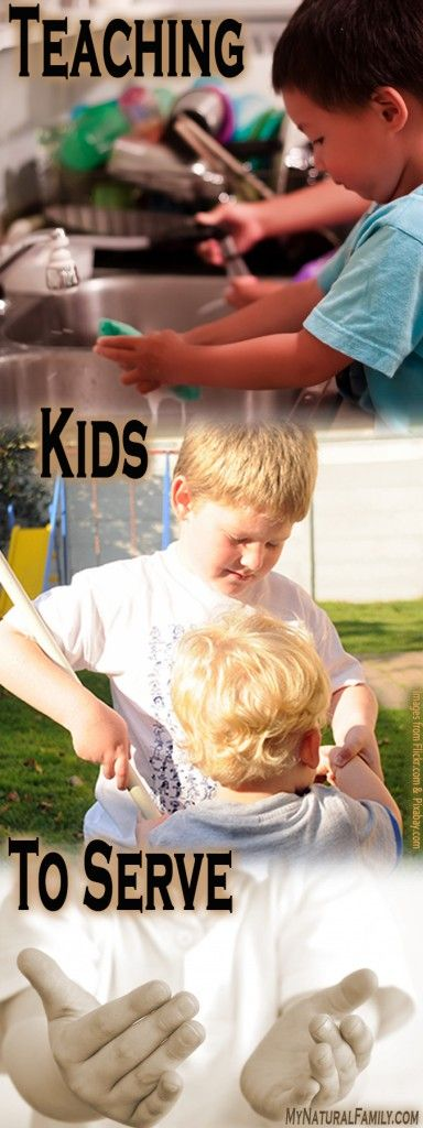 Teaching Children About Service and Service Projects for Kids Ideas - MyNaturalFamily.com #service