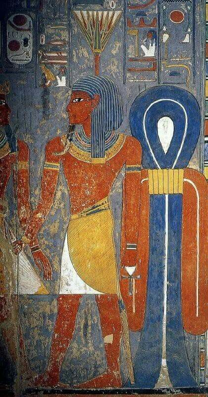 Nefertem, Neter (god) of healing and beauty, symbol of fragrance and water-lily, son of Ptah and Sekhmet