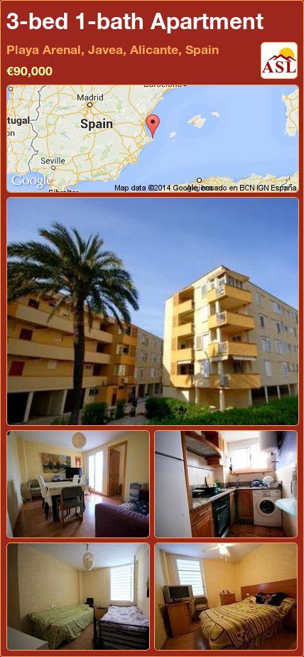 3-bed 1-bath Apartment in Playa Arenal, Javea, Alicante, Spain ►€90,000 #PropertyForSaleInSpain
