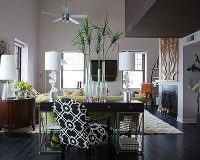 Desk In Living Room Loft