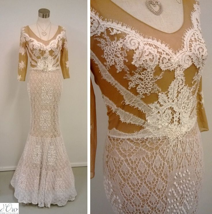 KV Couture, fashion designer Kristina Viirpalu, www.kvcouture.eu/... #kvcouture #kristinaviirpalu #white #dress #gown #knitted #lace #embroidery #details #wedding