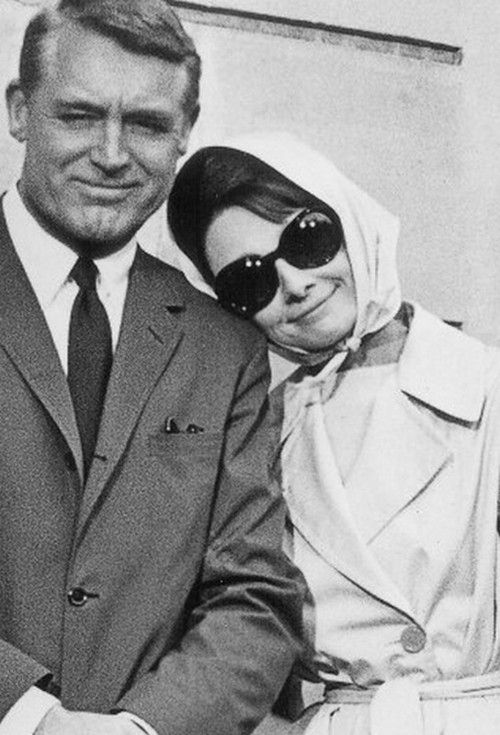 Cary Grant & Audrey - from maybe my favorite rom-com ever (and one of my favorite movies), 1963's Charade.