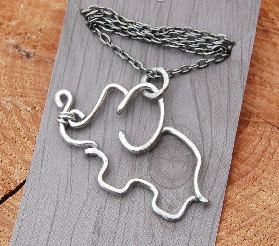 Elephant. Pendant. Necklace. Aluminum. от Karismabykarajewelry