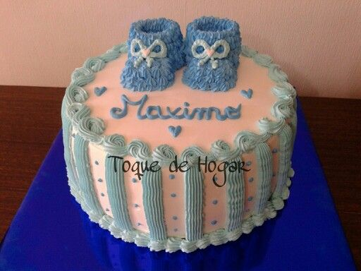 Baby Shower cake with whipped cream