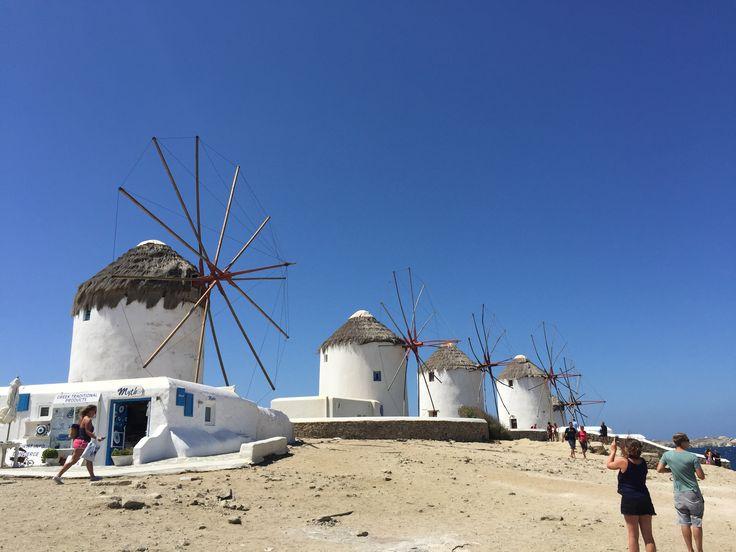 Mills in Mykonos.