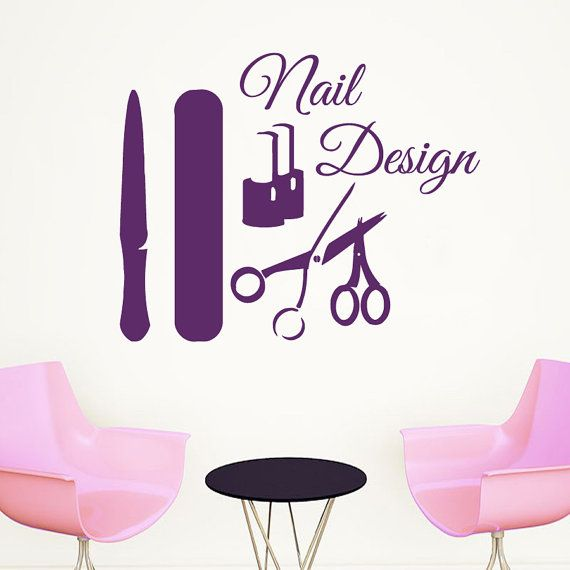 33 best wall decals beauty salon images on pinterest - Stickers salon design ...
