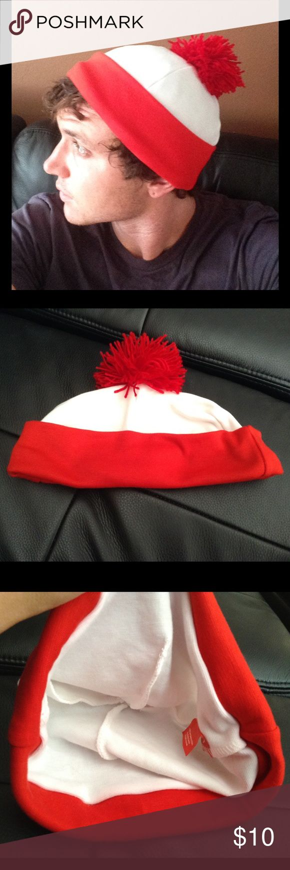 Official Where's Waldo hat Official Where's Waldo hat. Beanie style with red puff at top. Limited distribution. Excellent condition! Where's Waldo Accessories Hats