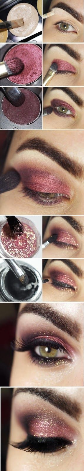 Makeup Artist ^^ | https://pinterest.com/makeupartist4ever/  Beautiful look with this Eyeshadow technique