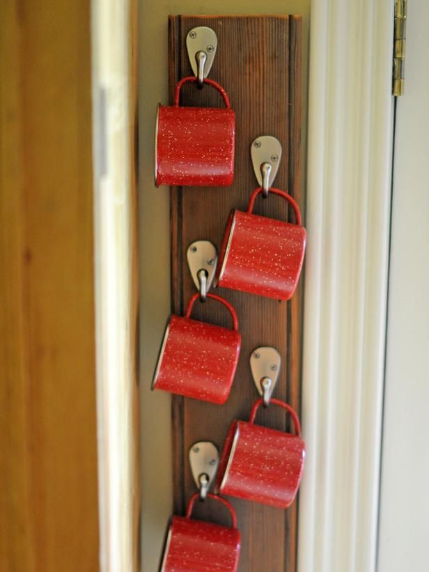 Space-Saving Ideas -- http://www.hgtv.com/decorating-basics/clever-uses-for-everyday-items-in-the-kitchen/pictures/page-6.html?soc=pinterest