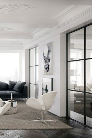 New York Residence Arne Jacobsen Swan Chairs here: http://www.paletteandparlor.com/products/arne-jacobsen-swan-chair-3320