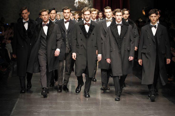 2014 Fashion Shows | Dolce  Gabbana Men's Winter 2014 Fashion Show! ~ Iconici Tv Fashion