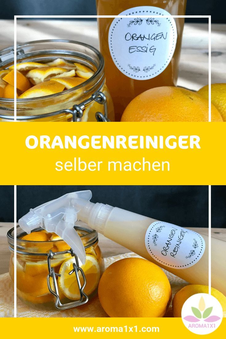 Orangenreiniger-Spray einfach selber machen