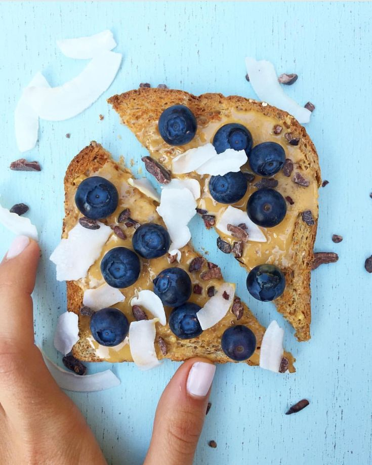 Sprouted Wheat Blueberry Peanut Butter Toast- Crazy Richard's Peanut Butter Company. CrazyRichards.com