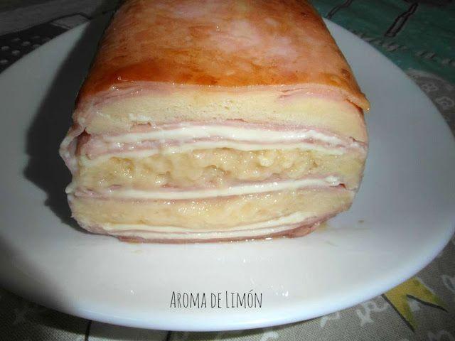PASTEL DE JAMÓN Y QUESO EN MICROONDAS | Aroma de Limón