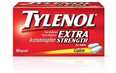 #Insumos_Primeros_Auxilios #Botiquines #Antiflamatorios #Dolor  Tylenol Extrafuerte Caplets.  Para el alivio temporal de dolores menores debidos a resfriado común. dolor de cabeza, dolor de espalda, dolores menores de la artritis, dolor de muelas, dolores musculares, dolor premenstrual y menstrual.  Bajar la fiebre temporalmente.