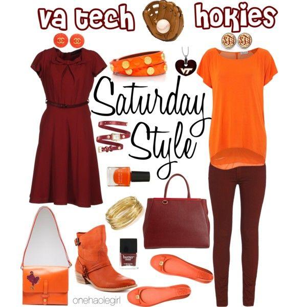 Virginia Tech Hokies by onehaolegirl, via Polyvore