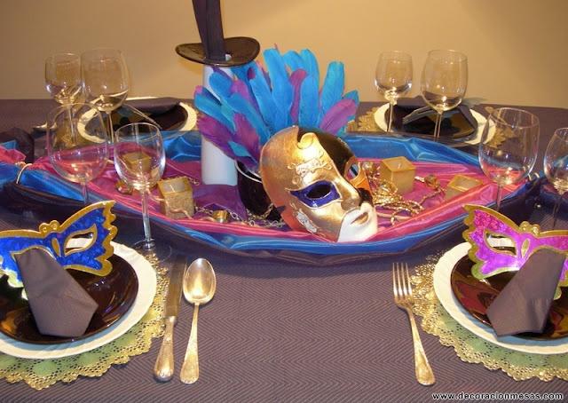 Centros de mesa de carnaval/Carnival Centerpieces