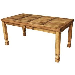 This popular rustic table is offered in three sizes. The medium size will seat four comfortably. The large can seat six comfortably and the extra-large has room for up to eight adults!  There's a small drawer in the center for napkins or utensils.  This piece can also serve as a library table, sewing table, desk, hobby or potting table. The sturdy handmade construction of this piece of southwestern furniture will give you a lifetime of service.  Handmade in Mexico.