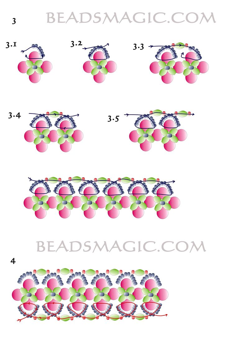 Free pattern for bracelet Royal Violet - 3