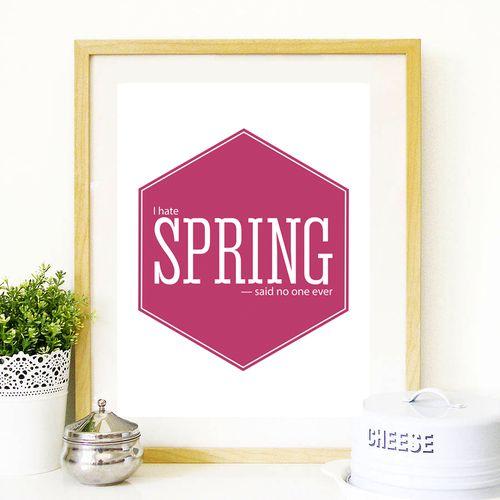 Cherry & Cherry PRINTS - I Hate Spring Cod produs: D-024 Disponibil în...